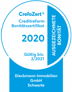 Kreditzertifikat - CrefoZert 2020 - Dieckmann Immobilien GmbH